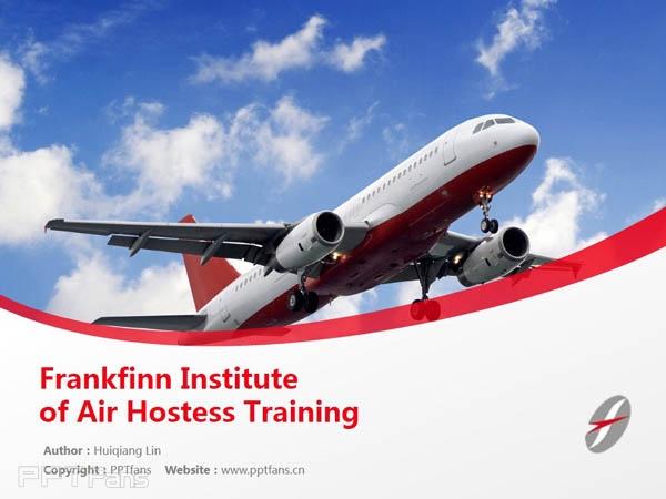 Frankfinn Institute of Air Hostess Training powerpoint template download | 弗兰克芬空姐培训学院PPT模板下载_幻灯片预览图1