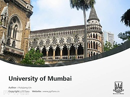 University of Mumbai powerpoint template download | ?#19979;?#22823;学PPT模板下载
