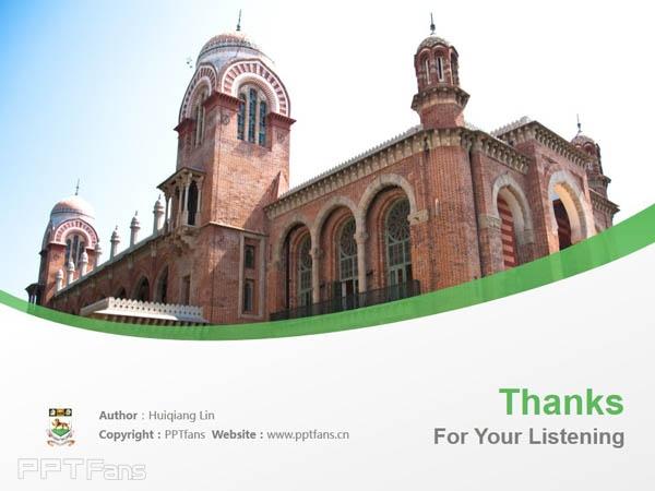 University of Madras powerpoint template download | 馬德拉斯大學PPT模板下載_幻燈片預覽圖18