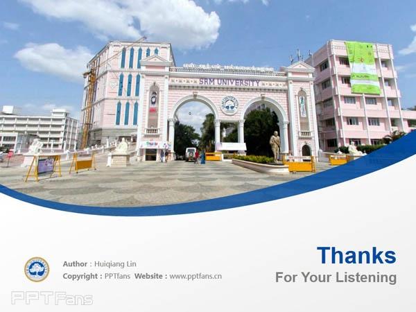 S.R.M University powerpoint template download | 印度SRM大学PPT模板下载_幻灯片预览图18