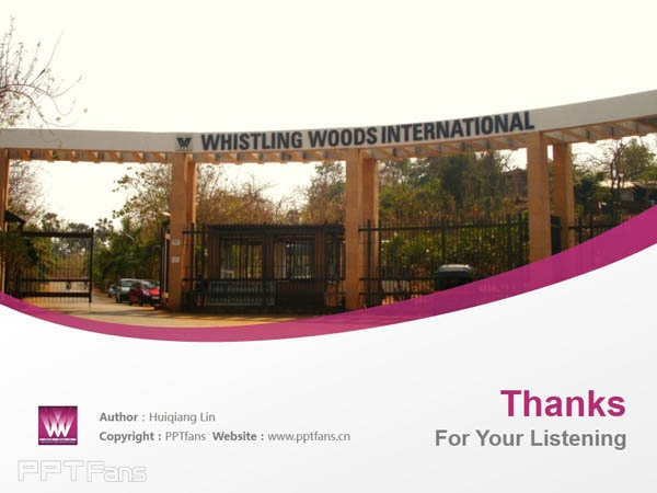 Whistling Woods International powerpoint template download | 印度国际电影学院PPT模板下载_幻灯片预览图18