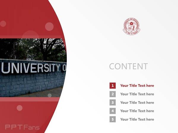 University of Hyderabad powerpoint template download | 海得拉巴大学PPT模板下载_幻灯片预览图2