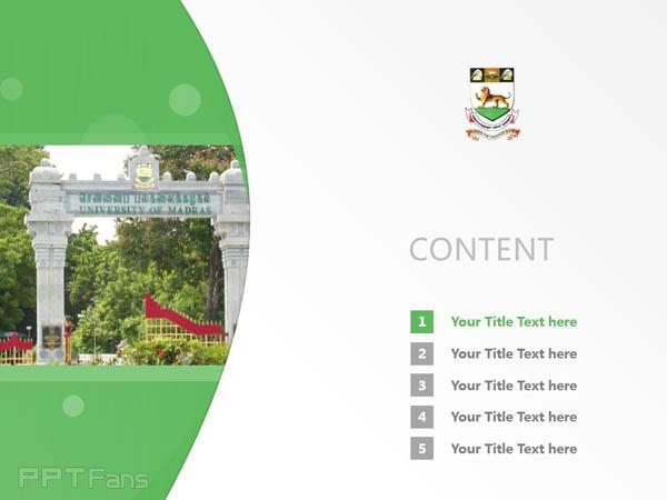 University of Madras powerpoint template download | 馬德拉斯大學PPT模板下載_幻燈片預覽圖2