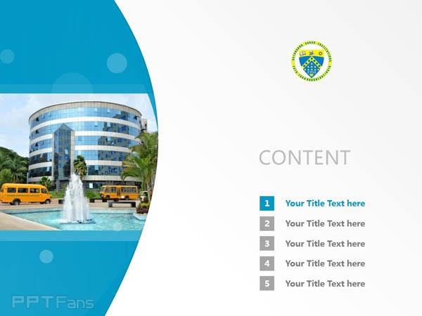 Dayananda Sagar Instituions powerpoint template download | 班加羅爾大學薩格學院PPT模板下載_幻燈片預覽圖2