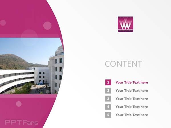 Whistling Woods International powerpoint template download | 印度国际电影学院PPT模板下载_幻灯片预览图2