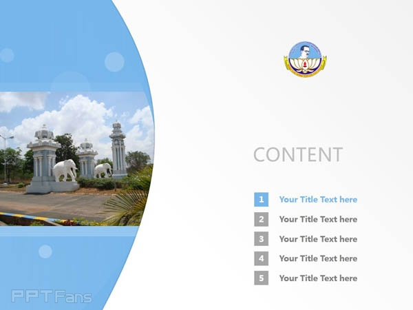 Bharathidasan University powerpoint template download | 巴拉迪大学PPT模板下载_slide2