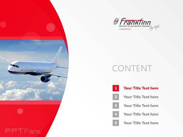 Frankfinn Institute of Air Hostess Training powerpoint template download | 弗兰克芬空姐培训学院PPT模板下载_幻灯片预览图2