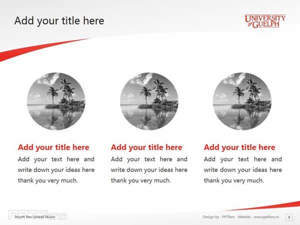 University of Guelph powerpoint template download | 圭尔夫大学PPT模板下载_幻灯片预览图3