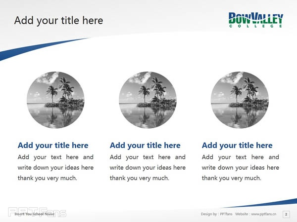 Bow Valley College powerpoint template download | 博瓦立学院PPT模板下载_幻灯片预览图3