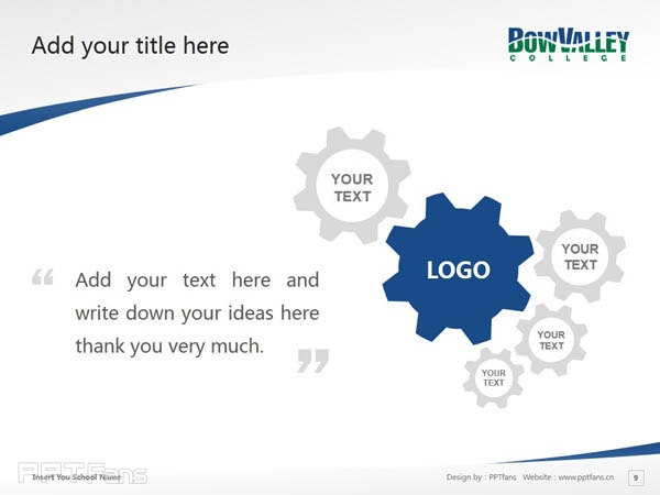Bow Valley College powerpoint template download | 博瓦立学院PPT模板下载_幻灯片预览图10