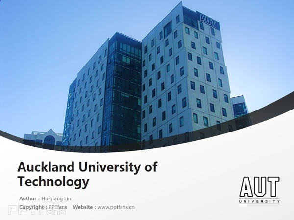 Auckland University of Technology powerpoint template download | 奥克兰理工大学PPT模板下载_幻灯片预览图1