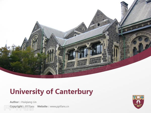 University of Canterbury powerpoint template download | 坎特伯雷大学PPT模板下载_幻灯片预览图1