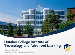Humber College Institute of Technology and Advanced Learning powerpoint template download | 汉博学院PPT模板下载