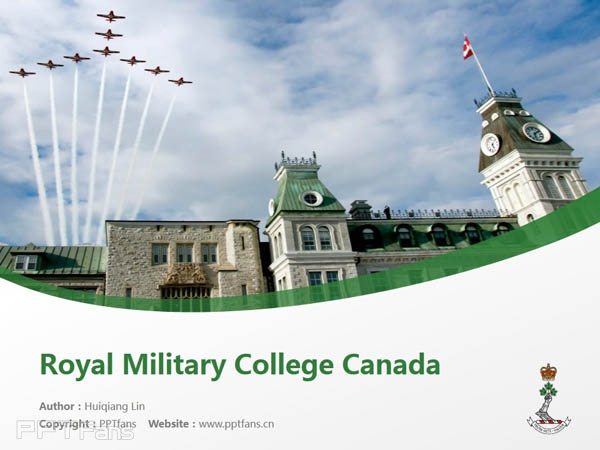 Royal Military College Canada powerpoint template download | 加拿大皇家军事学院PPT模板下载_幻灯片预览图1