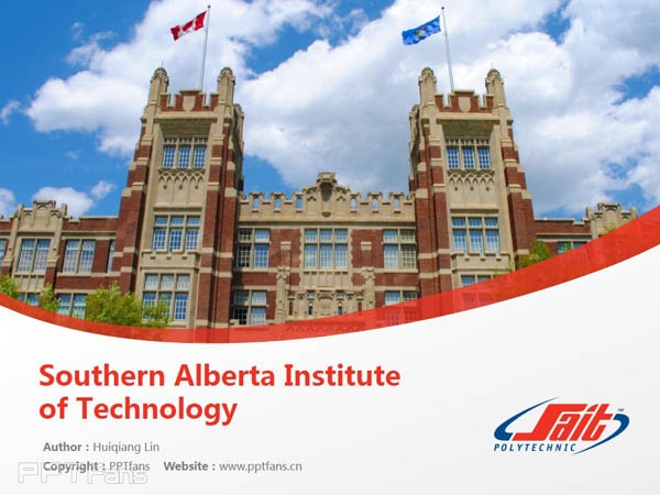 Southern Alberta Institute of Technology powerpoint template download   南阿尔伯塔理工学院PPT模板下载_幻灯片预览图1