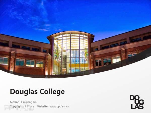 Douglas College powerpoint template download | 道格拉斯学院PPT模板下载_幻灯片预览图1
