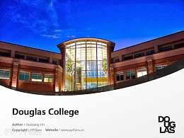 Douglas College powerpoint template download | 道格拉斯学院PPT模板下载