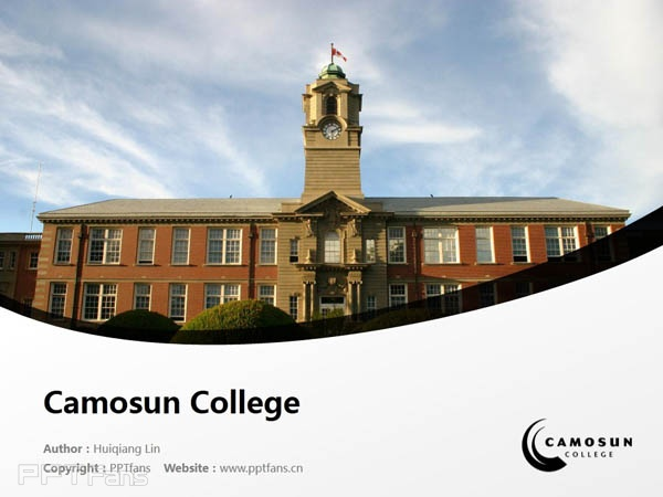Camosun College powerpoint template download | 卡莫森学院PPT模板下载_幻灯片预览图1