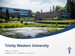 Trinity Western University powerpoint template download   西三一大学PPT模板下载