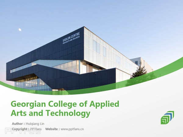 Georgian College Of Applied Arts And Technology Powerpoint Template Download 乔治亚学院ppt模板下载 Ppt设计教程网
