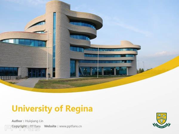 University of Regina powerpoint template download | 里贾纳大学PPT模板下载_幻灯片预览图1