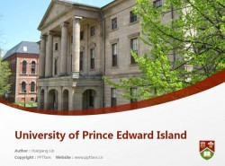University of Prince Edward Island powerpoint template download | 爱德华王子岛大学PPT模板下载