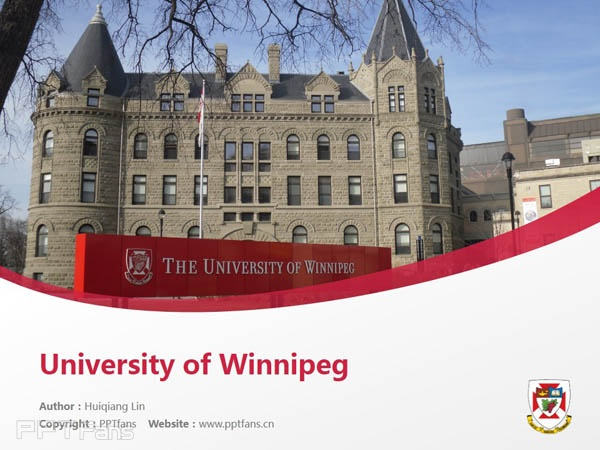 University of Winnipeg powerpoint template download | 温尼伯大学PPT模板下载_幻灯片预览图1