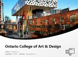 Ontario College of Art & Design powerpoint template download | 安大略艺术设计学院大学PPT模板下载