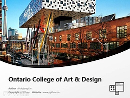 Ontario College of Art & Design powerpoint template download | 安大略艺术设计学院大学PPT模板?#30053;? title=