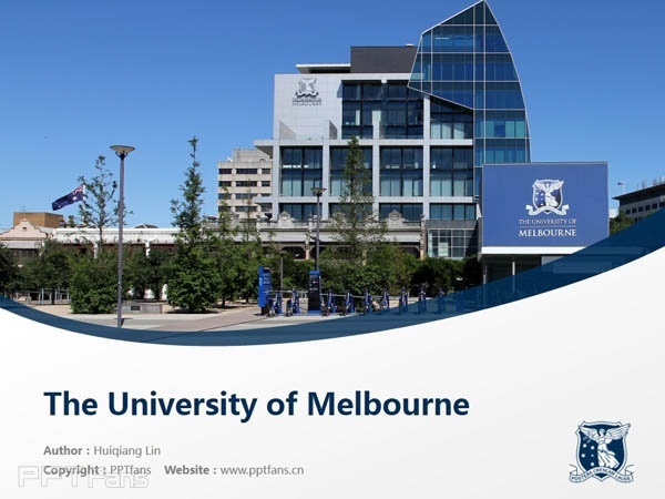 The University of Melbourne powerpoint template download | 墨尔本大学PPT模板下载_slide1