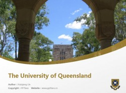 The University of Queensland powerpoint template download | 昆士兰大学PPT模板下载