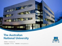 The Australian National University powerpoint template download | 澳大利亚国立大学PPT模板下载