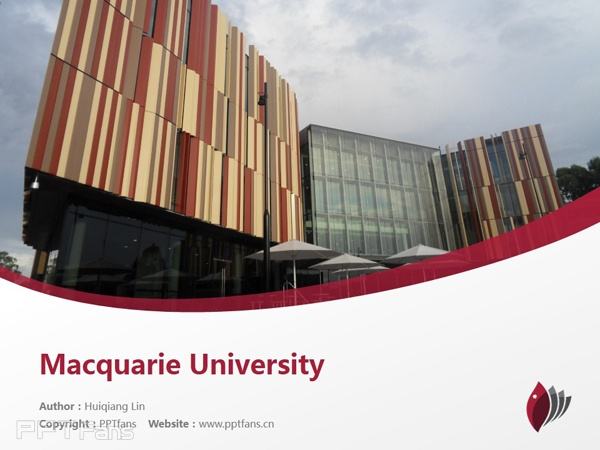 Macquarie University powerpoint template download | 麦考瑞大学PPT模板下载_slide1