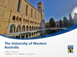 The University of Western Australia powerpoint template download | 西澳大学PPT模板下载