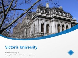 Victoria University powerpoint template download | 维多利亚大学PPT模板下载