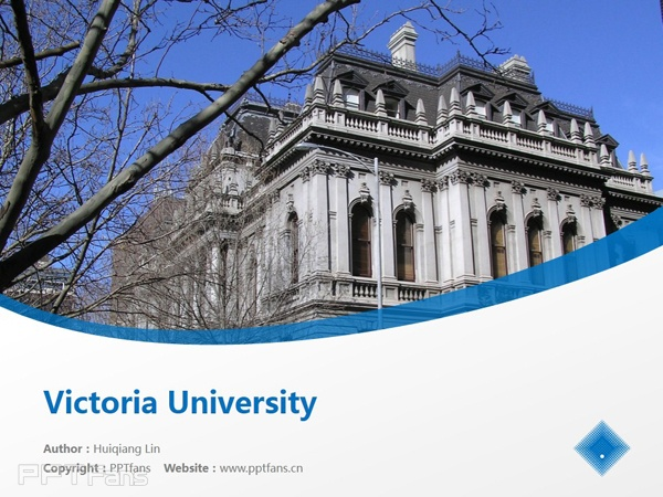 Victoria University powerpoint template download | 维多利亚大学PPT模板下载_slide1