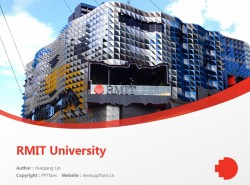 RMIT University powerpoint template download | 皇家墨尔本理工大学PPT模板下载