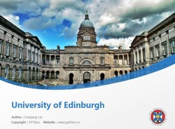 University of Edinburgh powerpoint template download | 爱丁堡大学PPT模板下载