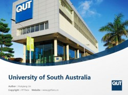 Queensland University of Technology powerpoint template download | 昆士兰理工大学PPT模板下载
