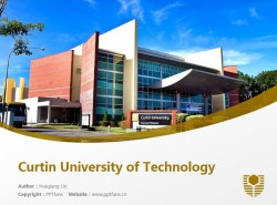 Curtin University of Technology powerpoint template download | 科廷大学PPT模板下载