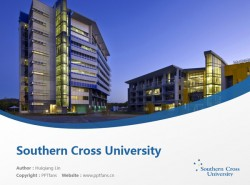 Southern Cross University powerpoint template download | 南十字星大学PPT模板下载
