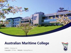 Australian Maritime College powerpoint template download | 澳大利亚海事学院PPT模板下载
