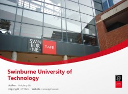 Swinburne University of Technology powerpoint template download | 斯文本科技大学PPT模板下载