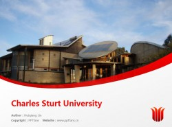 Charles Sturt University powerpoint template download | 查尔斯特大学PPT模板下载