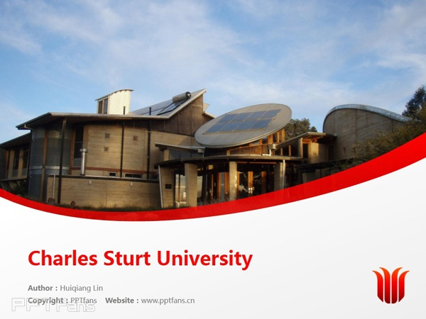 Charles Sturt University powerpoint template download | 查尔斯特大学PPT模板下载_幻灯片预览图1