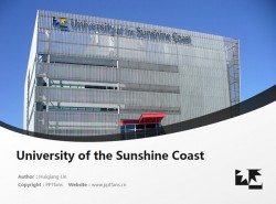 University of the Sunshine Coast powerpoint template download | 阳光海岸大学PPT模板下载