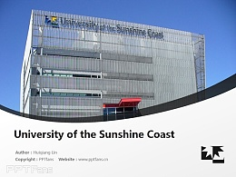 University of the Sunshine Coast powerpoint template download | 陽光海岸大學PPT模板下載