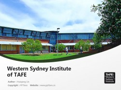 Western Sydney Institute of TAFE powerpoint template download | 新南威尔士西悉尼技术与继续教育学院PPT模板下载