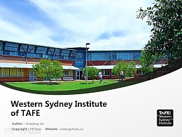 Western Sydney Institute of TAFE powerpoint template download | 新南威爾士西悉尼技術與繼續教育學院PPT模板下載
