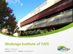 Wodonga Institute of TAFE powerpoint template download | 沃东加技术与继续教育学院PPT模板下载